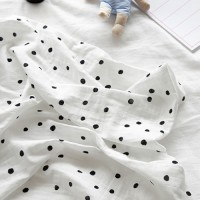 Premium Gaze Blanket / Marydot-White